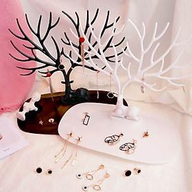 Cây treo trang sức nhiều nhánh trang trí decor độc đáo tặng kèm 1 dây cột tóc hoa mặt trời- màu sắc giao ngẫu nhiên