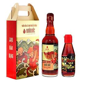 Hình đại diện sản phẩm Combo 2 chai nước mắm hảo hạng Mười Đức 500ml và Cốt nhĩ thượng hạng Mười Đức 200ml
