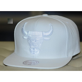 Mitchell & Ness Chicago Bulls NBA Logo Full White Snapback