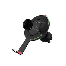 Sạc không dây kiêm kẹp điện thoại trên xe hơi QI 10W Hoco CW4A - Chính hãng