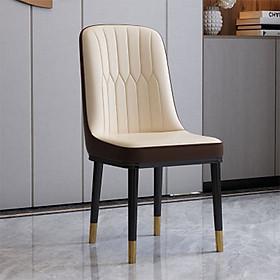 Ghế bàn ăn da nappa chân sắt titan (kt 92x45x46cm)