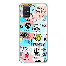 Ốp lưng dẻo cho điện thoại Samsung Galaxy A51 - 0126 FUNNY - Hàng Chính Hãng