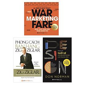 Combo Sách Marketing - Bán Hàng: Nghệ Thuật Dụng Binh Trong Marketing + Phong Cách Bán Hàng ZigZigLar + Thiết Kế Lấy Người Dùng Làm Trung Tâm