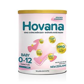 Sữa bột Hovana Baby hỗ trợ tiêu hóa cho bé từ 0 đến 12 tháng 900gr