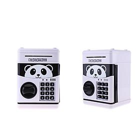 2x Panda Style Piggy Bank Password Cash Coin Saving Box Kid Festival Gift