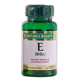 Viên Uống Nature's Bounty Vitamin E 400 IU (30 Viên) - Vàng