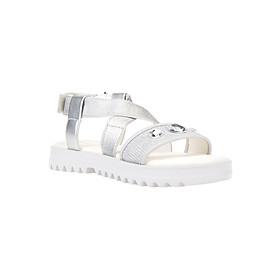 Giày Sandal Nữ GEOX J S.CORALIE G. F ELAS+GL.TEXT SILVER - Bạc
