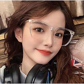 Kính Mắt Nam Nữ, Kính Gọng Vuông Không Độ Phong Cách Hàn Quốc KM19