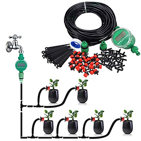 Combo bộ tưới cây tự động gồm 30 đầu tưới nhỏ giọt, 25m dây dẫn nước, 01 đồng hộ đặt thời gian tưới tự động và phụ kiện.