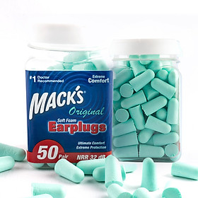 MACK'S soundproof earplugs, the United States imports anti-noise, sleep, lake blue, 50 packs