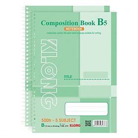 Lốc 2 Sổ Lò Xo Đơn B5 KLONG - 5 Subject MS 373 (500 trang)