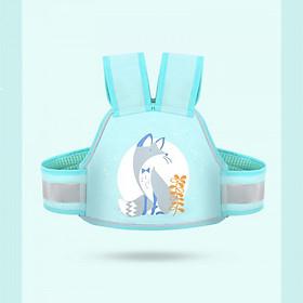 Đai nịt an toàn cho trẻ em ngồi xe máy, có dạ quang ban đêm baby (xanh) - Hàng chính hãng