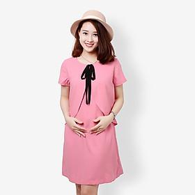 Đầm bầu, váy bầu hồng cánh tiên thời trang