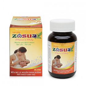 LỢI SỮA ZOSUA tăng cả số lượng và chất lượng sữa mẹ-Hộp 60 viên