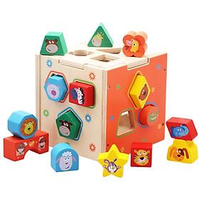 Hộp đồ chơi thông minh thả khối gỗ hình động vật