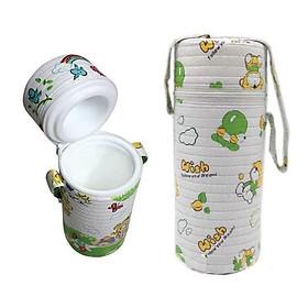 Túi ủ bình nước, bình sữa giữ nhiệt cho bé - Tặng kèm 05 túi trữ sữa