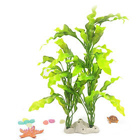 Aquarium Artificial Plants Artificial Plastic Plants Ornaments Natural Artificial Foliage Plants DIY Realistic Plants