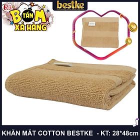 Khăn Mặt Cotton, Mềm Mại và Siêu Thấm Hút Nước KT 28cm*48cm Màu cafe sữa, towel, made in vietnam cotton towel