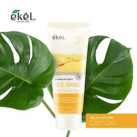 Tẩy tế bào chết gạo 100ml - Ekel Natural Clean Peeling Gel Rice Bran