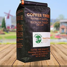 Cà phê hạt Robusta nguyên chất 100% 1kg - Coffee Tree thơm ngon, đậm đà