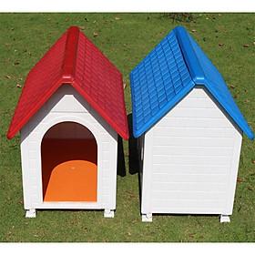 Nhà nhựa cao cấp ngoài trời size lớn cho chó mèo (giao màu ngẫu nhiên)