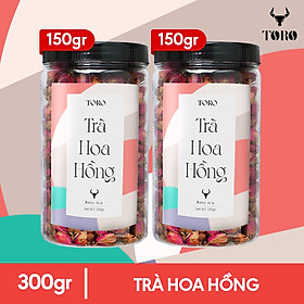 Bộ 2 Hũ Trà Hoa Hồng Sấy Khô TORO - Hũ 150 GRAM