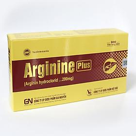 Thực phẩm bảo vệ sức khoẻ Arginine Plus giúp bổ gan, giải độc gan, bảo vệ tế bào gan - Hộp 100 viên