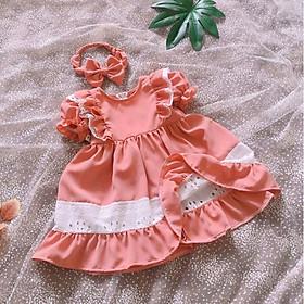 Đầm bé gái Hàng thiết kế - Chất liệu siêu mềm mát và an toàn cho bé