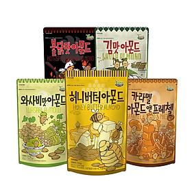 Combo 5 gói Hạnh nhân Hàn Quốc nhiều loại Tomsfarm Almond Infinity Set 210g 5ea