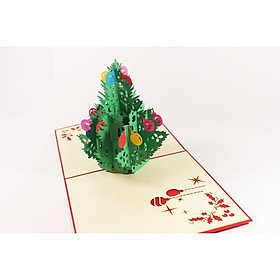 Thiệp 3D Giáng Sinh - Cây Thông Noel Hiroko - NON39