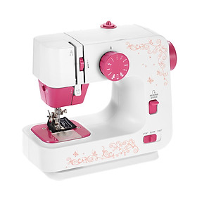 Mini Sewing Machine with 12 Stitches Portable Multi-function Sewing Machine 2-Speed Reverse Sewing Foot Control Work