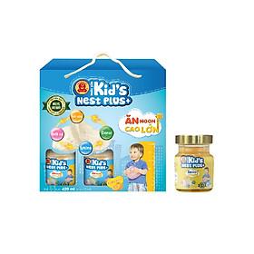 Lốc Nước Yến Kid's Nest Plus+ Hương Cam (6 lọ x 70ml) tặng 1 Lọ Nước Yến KNP
