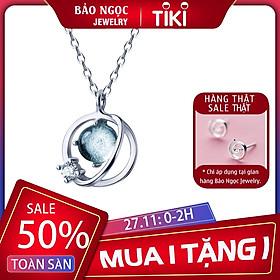 Dây chuyền | Dây chuyền nữ | Dây Chuyền Bạc S925 Đá Aqua Cho nữ - Bảo Ngọc Jewelry