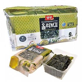 Bịch 9 Gói Lá Kim Ăn Liền Dongwon Vị Dầu Oliu ( 5 Gram/Gói)