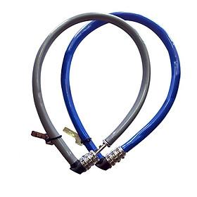 Combo 02 Khóa dây cao cấp khóa xe đạp xe máy, khóa cửa cổng nhà (Mật mã 3 số, 55cm, thép không gỉ)