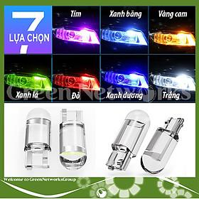 Đèn xi nhan demi thủy tinh T10 12V ô tô xe máy Green Networks Group ( 1 Cái )