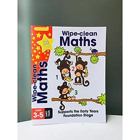 Gold Stars Wipe Clean Workbook: Maths - Bài Tập Toán cho trẻ