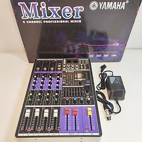 Bàn trộn âm thanh Mixer M4 Plus 2021 – 99 hiệu ứng vang âm thanh chuẩn phòng thu, hát karaoke gia đình, live stream chuyên nghiệp – Kết nối Bluetooth, USB, RCA, XLR, Canon…