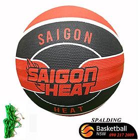 Quả bóng rổ Spalding  câu lạc bộ Sai Gon Heaat- size 7 - tặng kim và túi lưới đựng bóng