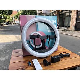 Đèn livestream LC360 36Cm, Đèn Led Trợ Sáng, Chiếu Sáng Studio, Makeup, Quay Phim , Chụp Ảnh, Livetream, Selfie, Xăm nghệ thuật - 3 kẹp điện thoại - 3 chế độ - Tặng kèm chân 2m1 - Hàng nhập khẩu