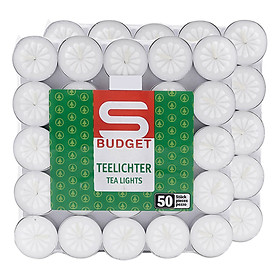 Hộp 100 Nến Tealight Bông Mai Teelichter FtraMart - Trắng