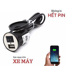 Bộ sạc pin điện thoại gắn trên Xe Máy, Moto - TB222