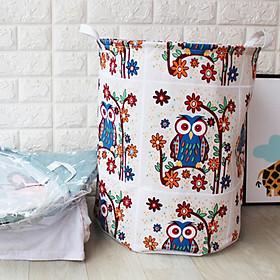 Siaonvr Waterproof Canvas Laundry Case Clothes Basket Storage Basket Folding Storage Box