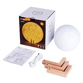3D Printed Pure Version Of 3D Moon Creative Desk Lamp
