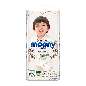 Bỉm quần Moony Natural size XL32