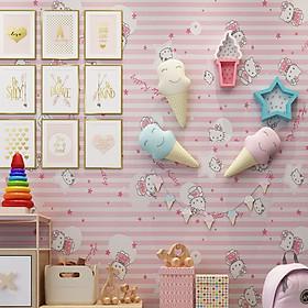 Giấy dán tường Mèo Hồng WP0074 10M