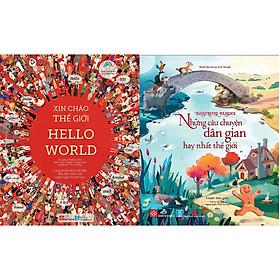 Combo 2 Cuốn: Illustrated Classics - Những Câu Chuyện Dân Gian Hay Nhất Thế Giới + Xin Chào Thế Giới - Cùng Khám Phá Bữa Tiệc Đầy Màu Sắc Của Ngôn Ngữ Và Văn Hóa