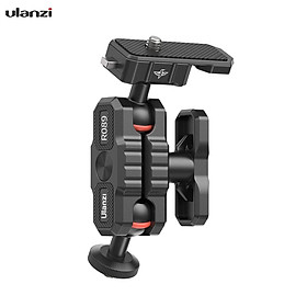 Ulanzi Articulating Friction Arm Field Monitor Mounting Bracket Double Ball Head 2KG Payload with 1/4-inch Cold Shoe