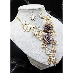 Hình đại diện sản phẩm Bộ trang sức thời trang hoa vàng