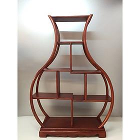 Kệ gỗ trang trí ( gỗ gỏ đỏ) - ngang 38 - sâu 11 - cao 55 cm